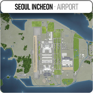seoul incheon international airport 3D