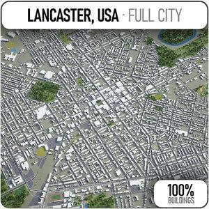 lancaster surrounding - 3D model