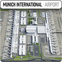 3D munich international airport -