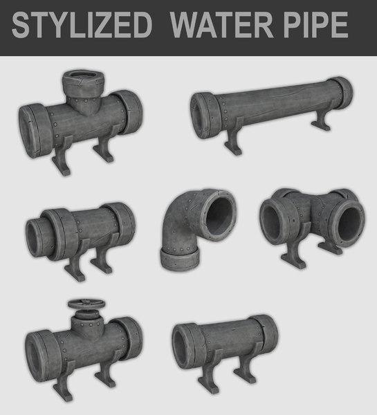 stylz cartoon water pipe model