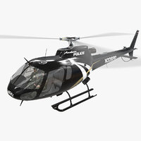 helicopter as-350 anaheim police 3D model