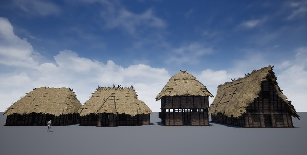thatched cottage - 3D model