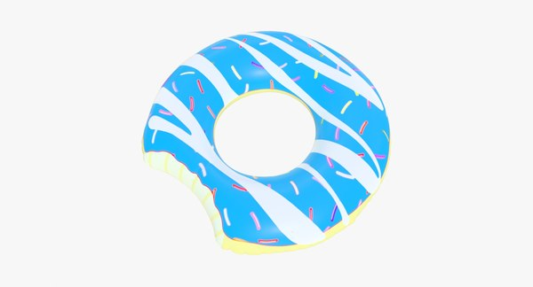 pool toy doughnut 12 3D model