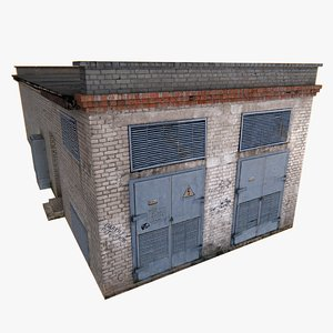 building transformer station pbr 3D model