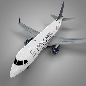 3D republic airways embraer170 l391