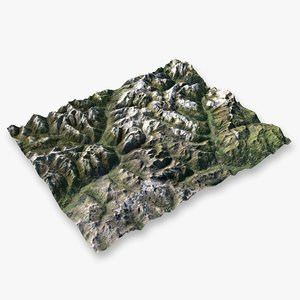 3D mountain alps