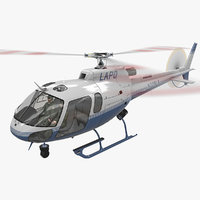 3D helicopter as-350 animation 3 model
