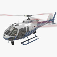 helicopter as-350 animation 2 3D model
