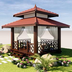3D pavilions vila model