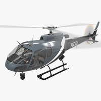 helicopter as-350 oklahoma city 3D model