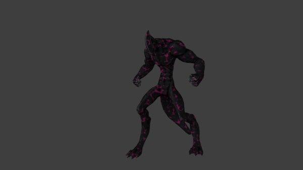 3D golem demon model