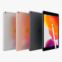 3D apple ipad 10 2 model