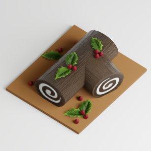 3D log cake