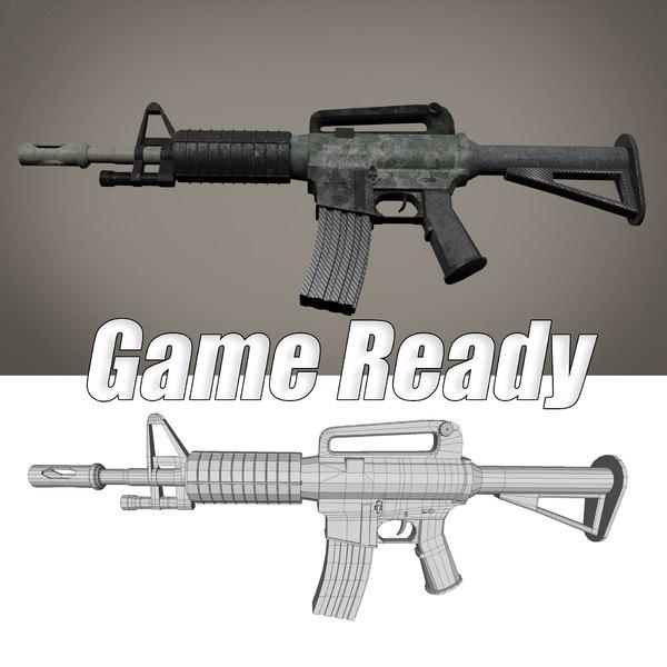 3D model carabine m4