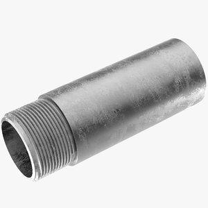 galvanised steel pipe riser 3D model