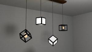 cube lamps 3D model