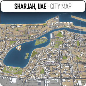 3D sharjah surrounding model