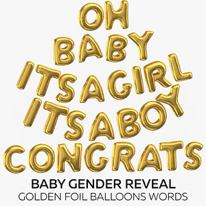 baby gender reveal - 3D