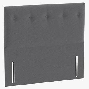3D headboard 07 grey
