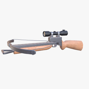 crossbow ready pbr 3D model