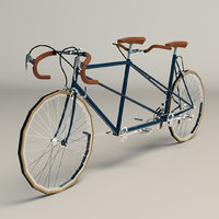 tandem bike 3D