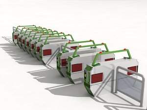 3D ticket barrier model