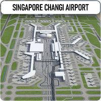 singapore changi airport - 3D model