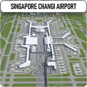 singapore changi airport - 3D model