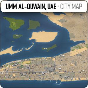 umm al-quwain surrounding - 3D