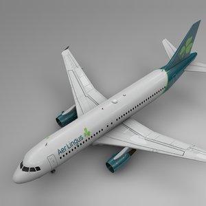 3D aer lingus airbus a320