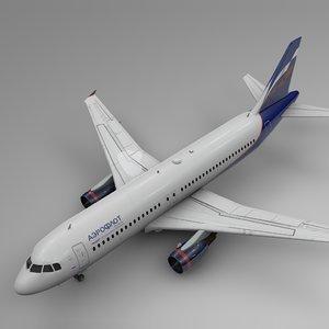 aeroflot airbus a320 l463 3D model