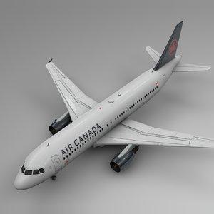air canada airbus a320 3D model
