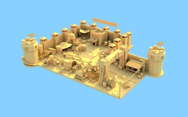 3D castle pack