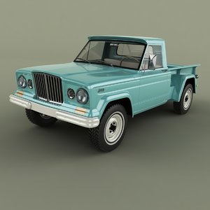1962 jeep gladiator thriftside 3D model