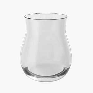 realistic canadian whisky glass 3D model