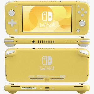 nintendo switch lite - 3D model
