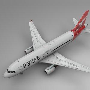 qantas airbus a320 l458 3D