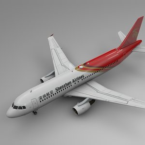 3D shenzhen airlines airbus a320