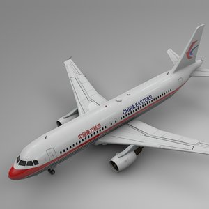 china eastern airbus a320 3D model