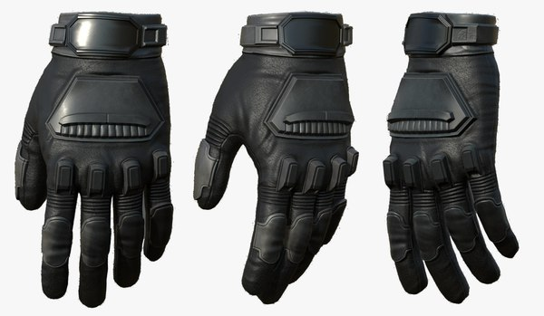 gloves leather protection 3D model
