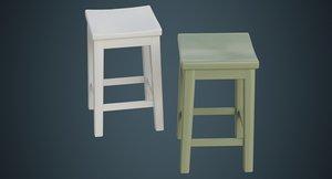 3D stool 1c model