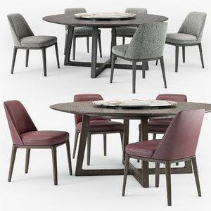3D sophie chair concorde table set