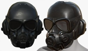 3D pollution helmet mask