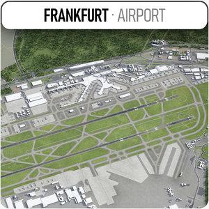 3D frankfurt airport - fra