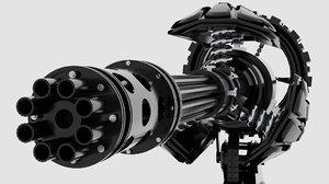 3D mini turret gun