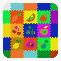 3D children s carpet puzzle