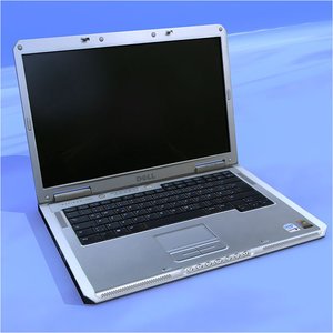 notebook laptop dell 3d model