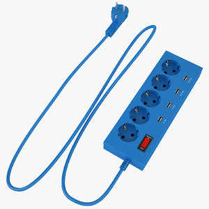 3D power strip outlet
