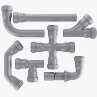 3D plastic plumbing pipe