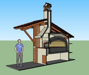 3D italian brick oven